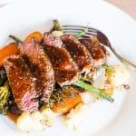 teriyaki steak and vegetables