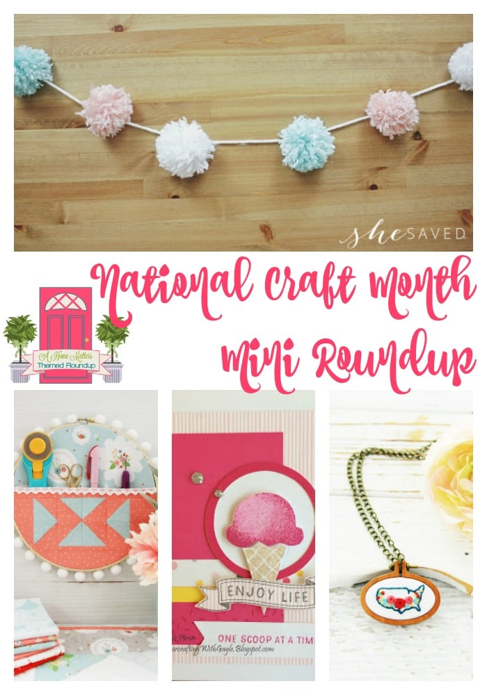 It's National Craft Month! Find fun and creative craft ideas. Plus, link up at Home Matters w/ DIY, recipes, crafts. #CraftIdeas #Crafting #HomeMattersParty