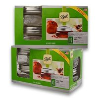 (2 Packs) Ball Mason Wide Mouth Half Pint Jars - 8oz - 4 Jars Per Box - Total 8 Jars