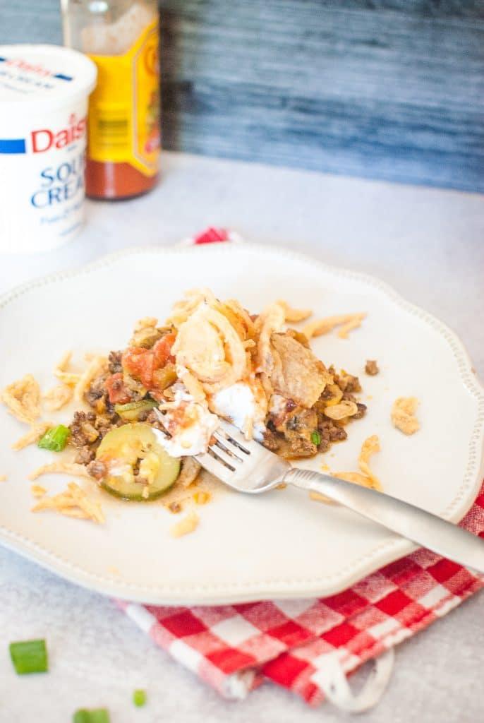 zucchini taco casserole