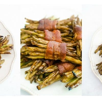 bacon wrapped green bean bundle