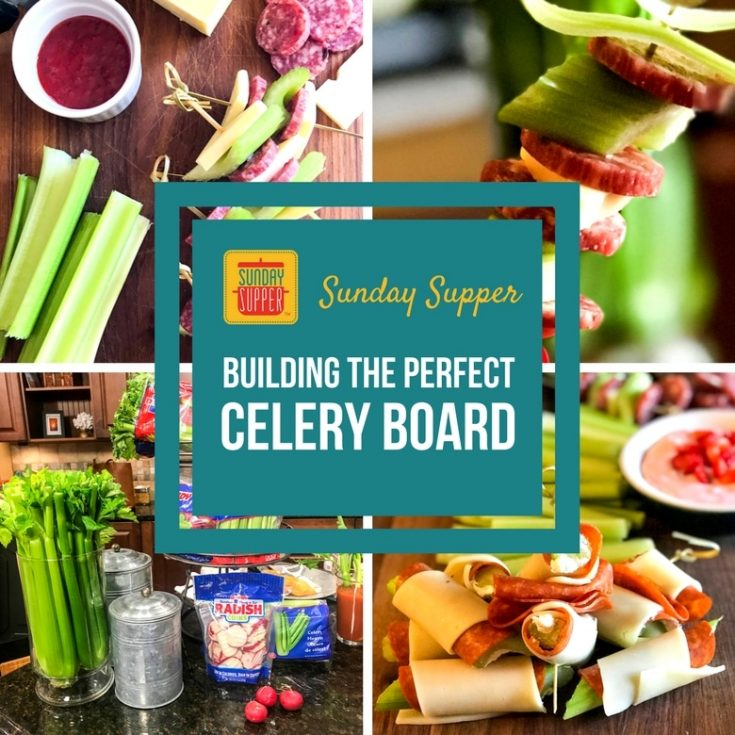 Building the Perfect Celery Snack Board #SundaySupper