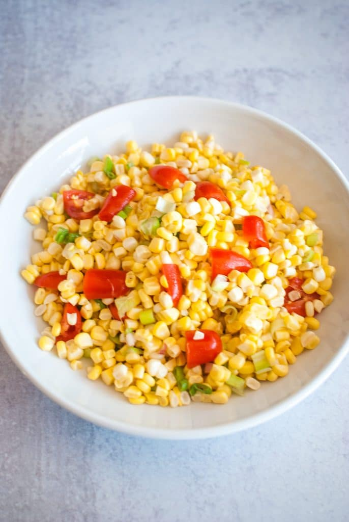 Corn Salad Recipe idea with tomatoes