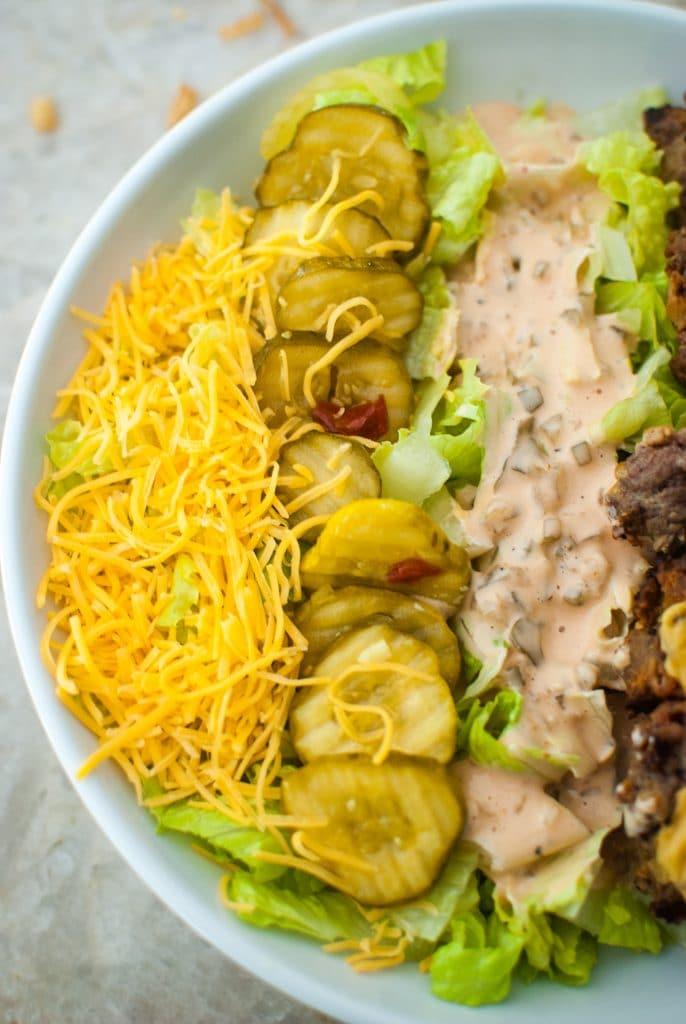 keto meal prep burger salad recipe