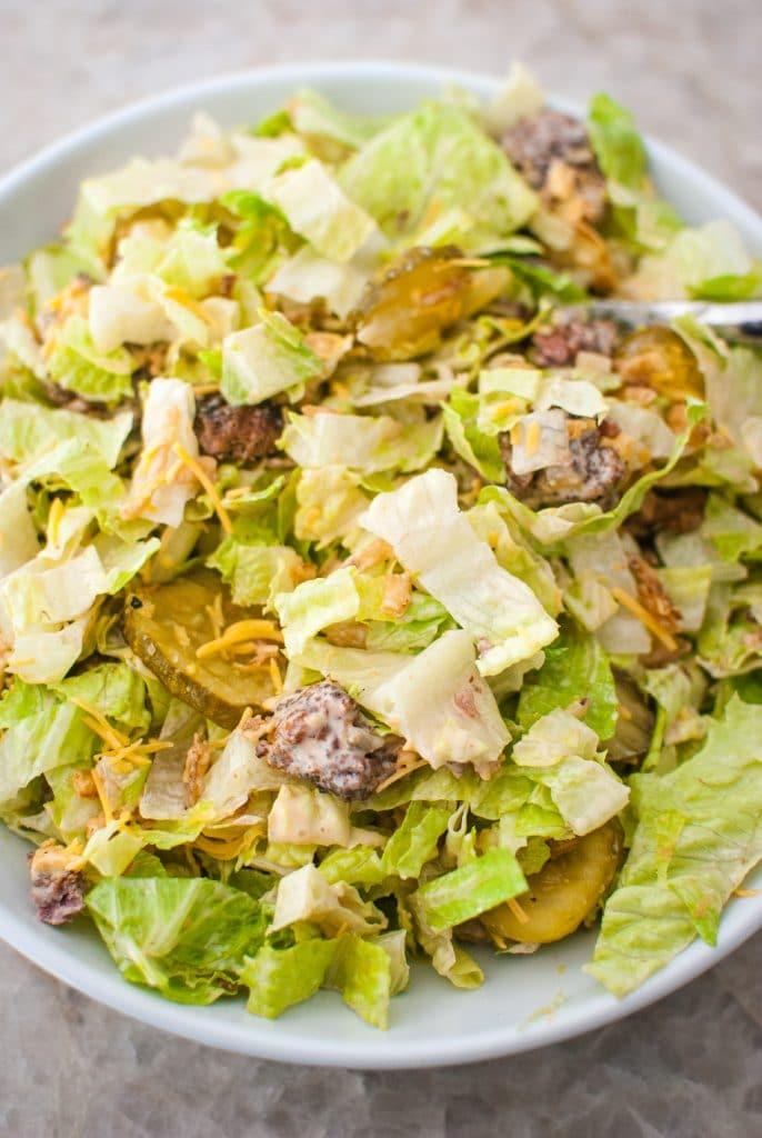 burger salad that is keto