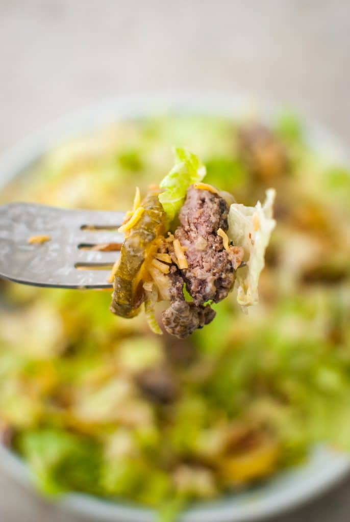 cheeseburger salad bite