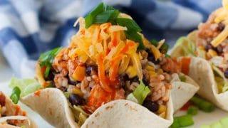 Slow Cooker Chicken Burrito Bowl Recipe - Crock Pot Simple Recipe