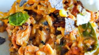 Chicken Enchilada Skillet Dinner - Messy Cutting Board