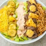burger cobb salad recipe