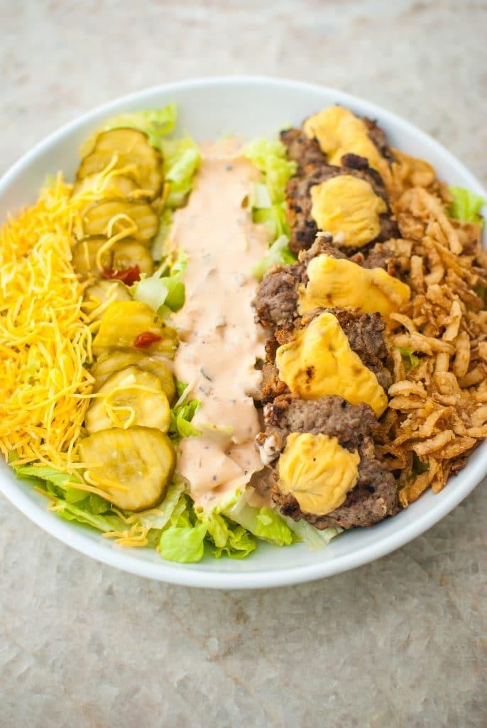burger cobb salad recipe