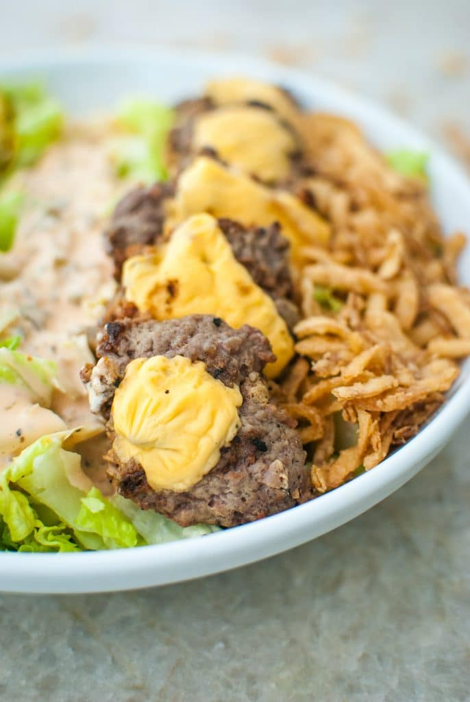 keto burger salad recipe idea