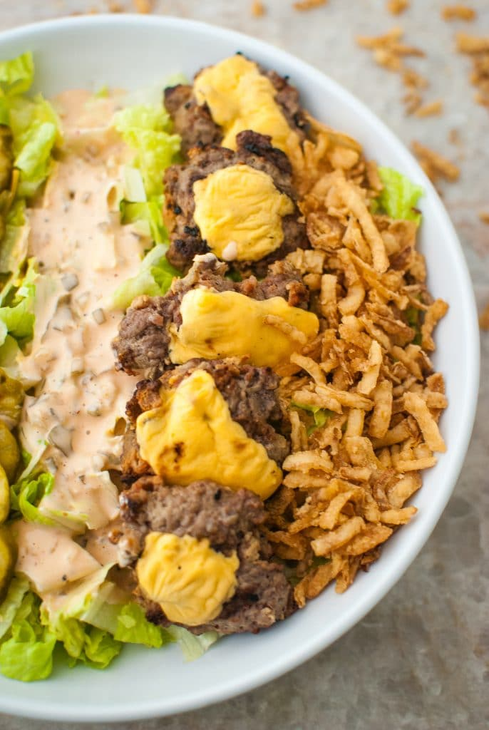 burger cobb salad low carb recipe idea