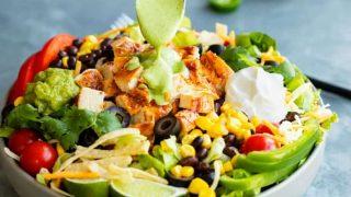 Southwest Salad (with Cilantro Lime Dressing!)