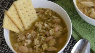 Instant Pot Zesty White Bean & Chicken Soup