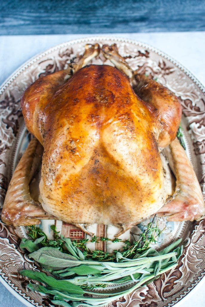 Dry Brined Roasted Turkey