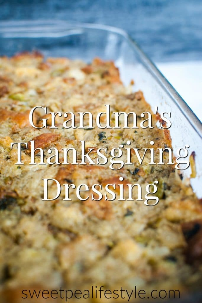 grandma's thanksgiving dressing recipe