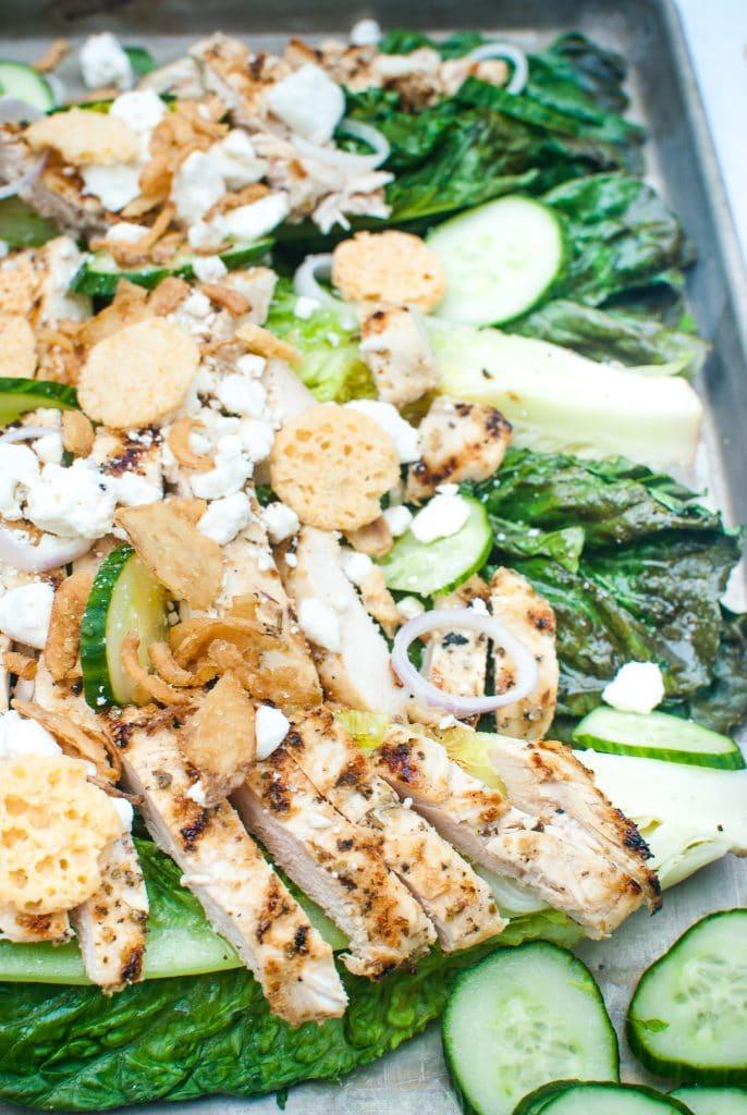 keto grilled greek chicken salad
