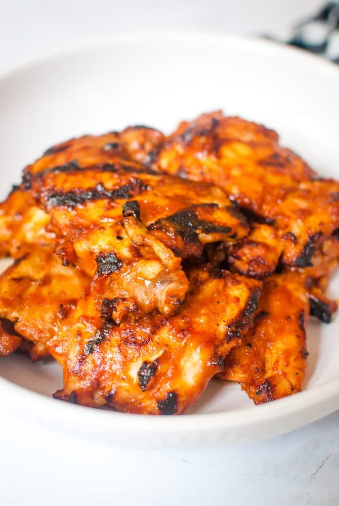 Grilled Chicken Thighs with Mike's Hot Honey