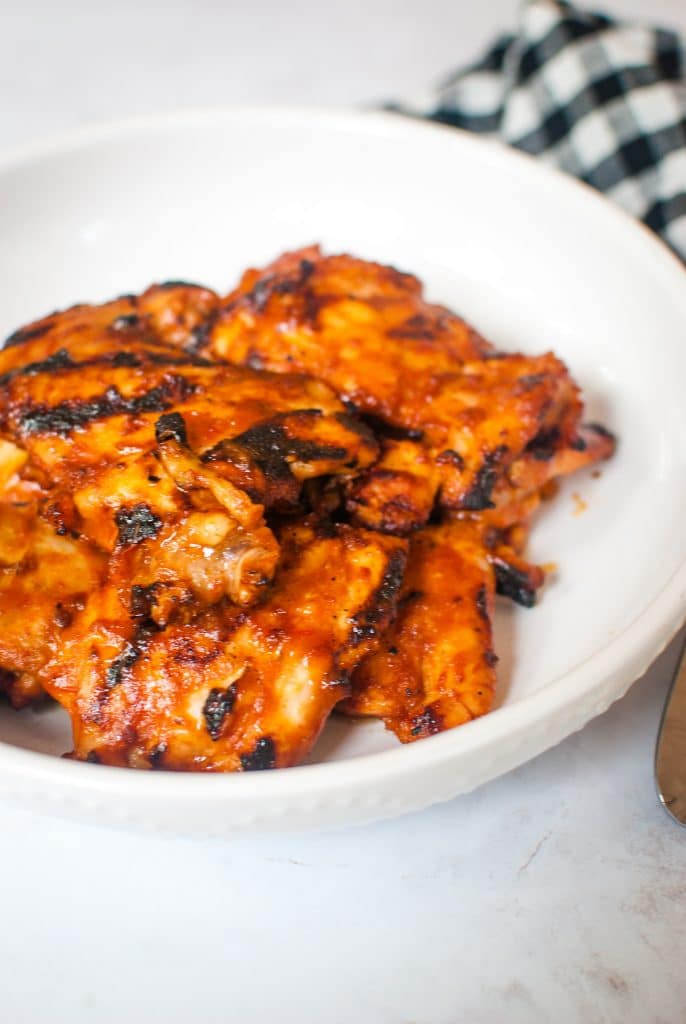 Grilled Chicken Thighs with Sloppy Joe Sauce
