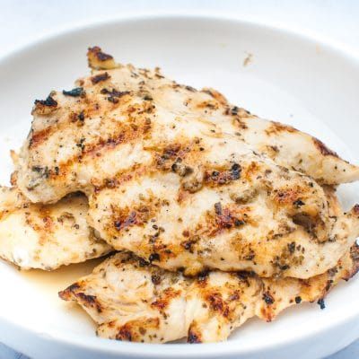 easy grilled chicken with greek marinade