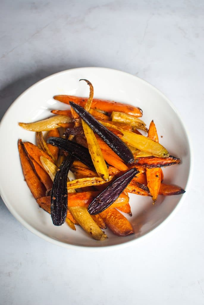 Rainbow Roasted Carrots