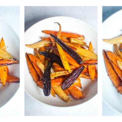 Rainbow Roasted Carrots Collage