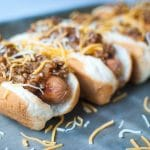 Sloppy Dogs | Sloppy Joe Topped Hot Dogs