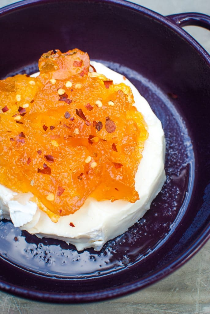 Spicy Baked Brie with Apricot Jam