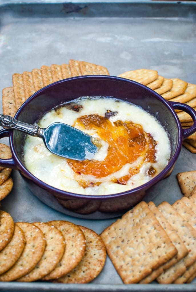 baked brie with apricot jelly
