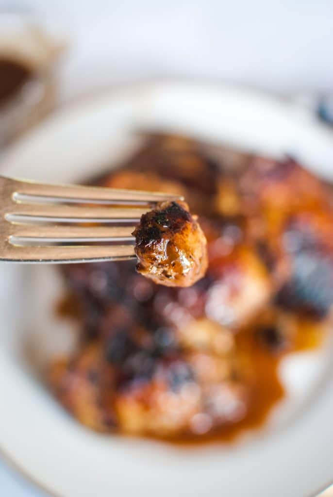Bite of Balsamic Chicken Thighs