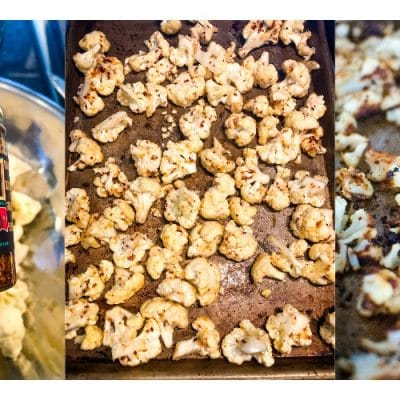 chili onion crunch roasted cauliflower