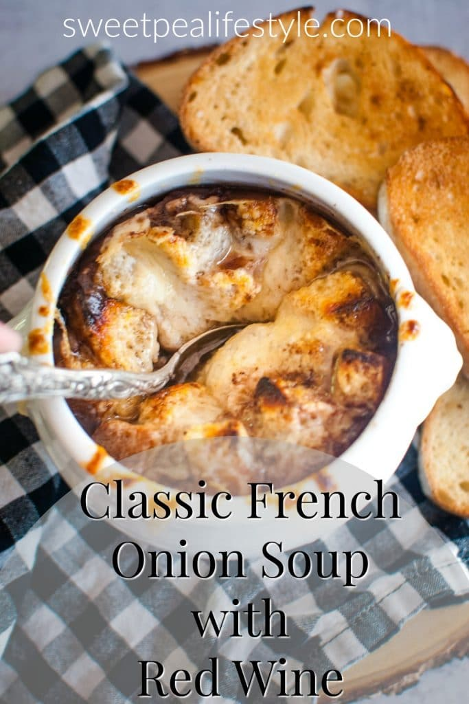 Classic French Onion Soup with Red Wine Recipe Idea from Sweetpea Lifestyle