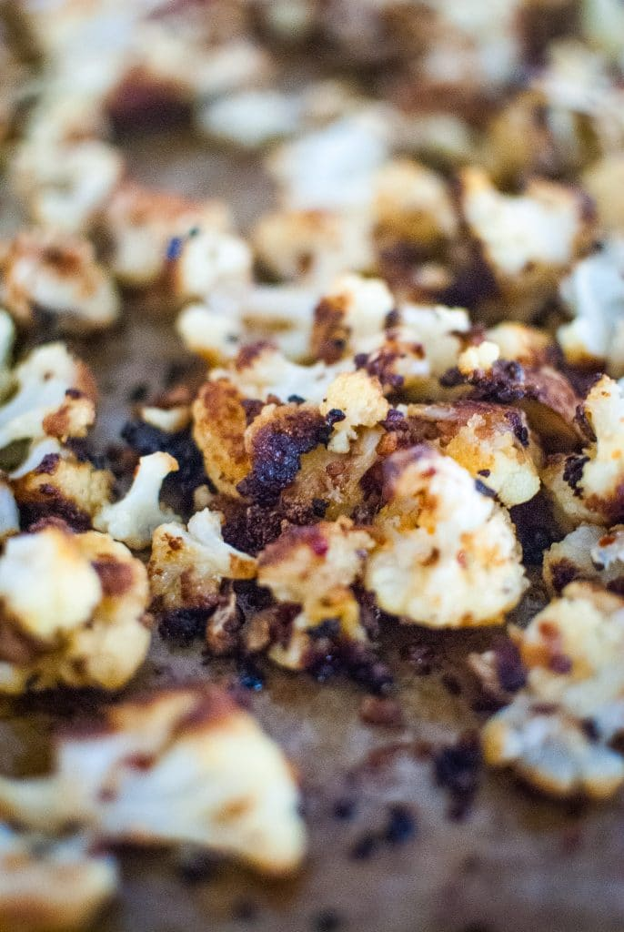 easy roasted cauliflower low carb side dish