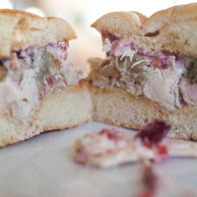 Ross's Leftover Thanksgiving Sandwich