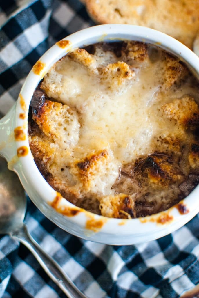 French Onion Soup with Gruyere Cheese