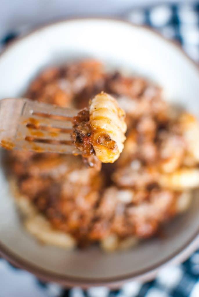 Gnocchi with Homemade Bolognese