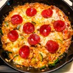low carb italian pizza zucchini bake
