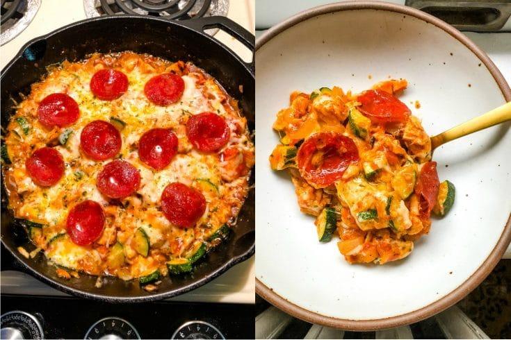 Keto Italian Pizza Zucchini Bake