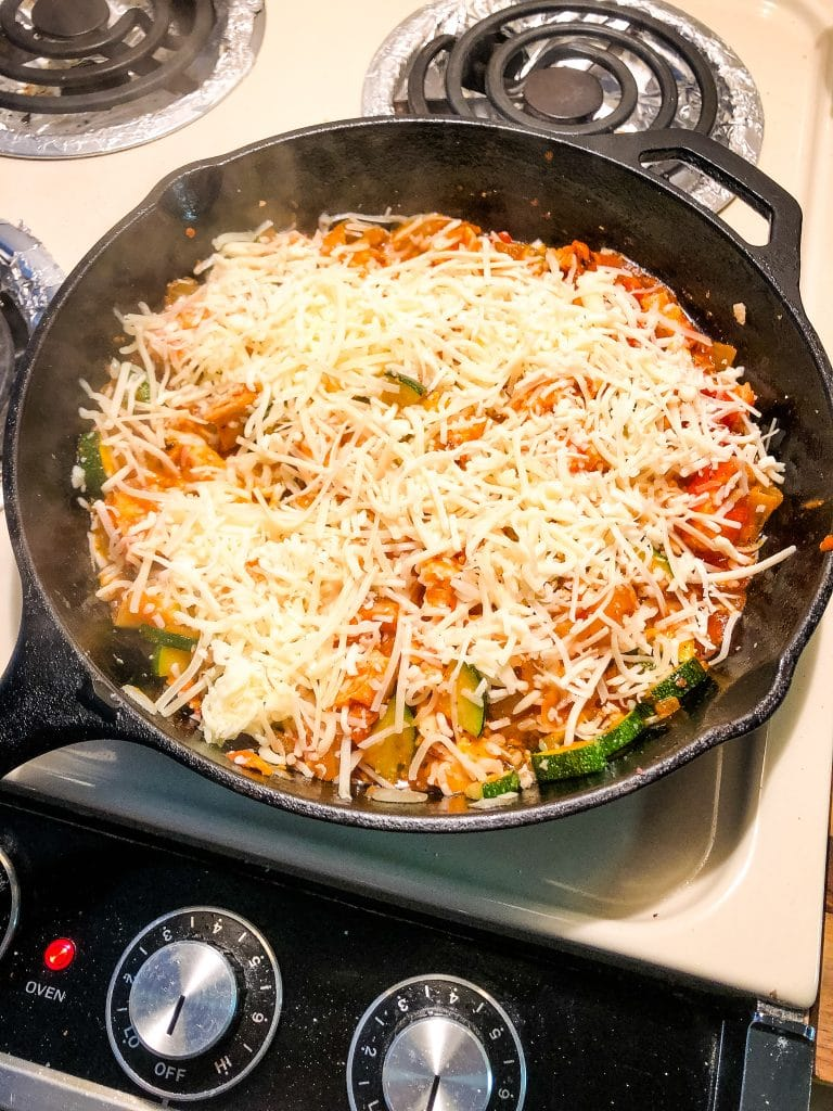 italian pizza zucchini bake dinner recipe idea