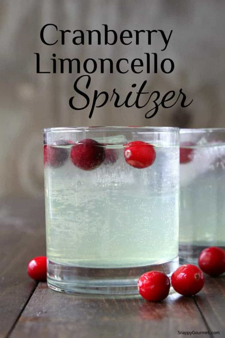 Cranberry Limoncello Spritzer Drink (Italian Cocktail)