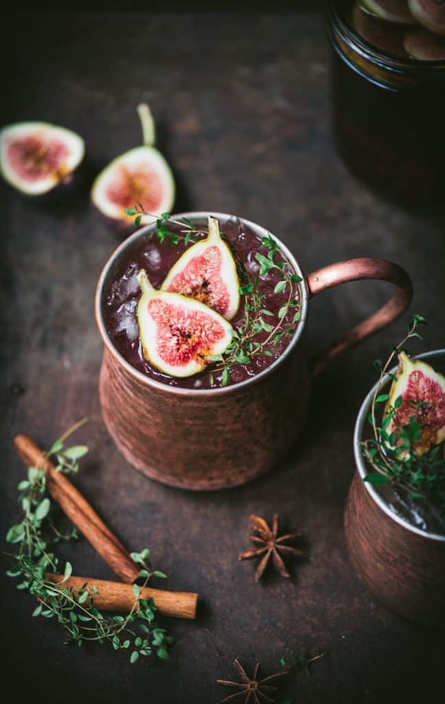 Fig Moscow Mule with Infused Vodka | Crowded Kitchen