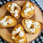 Goat Cheese Toast with Pepper Jelly