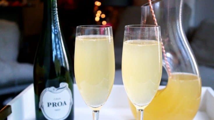 Lemon Ginger Apple Cider Champagne Punch
