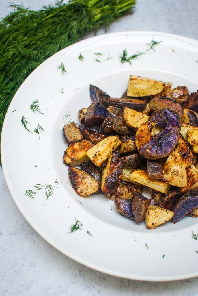 Roasted Potatoes with Dill and Ranch