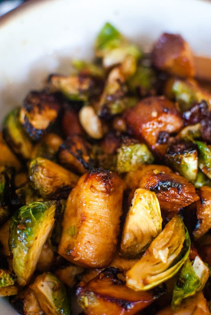 Teriyaki Chicken with Brussels Sprouts