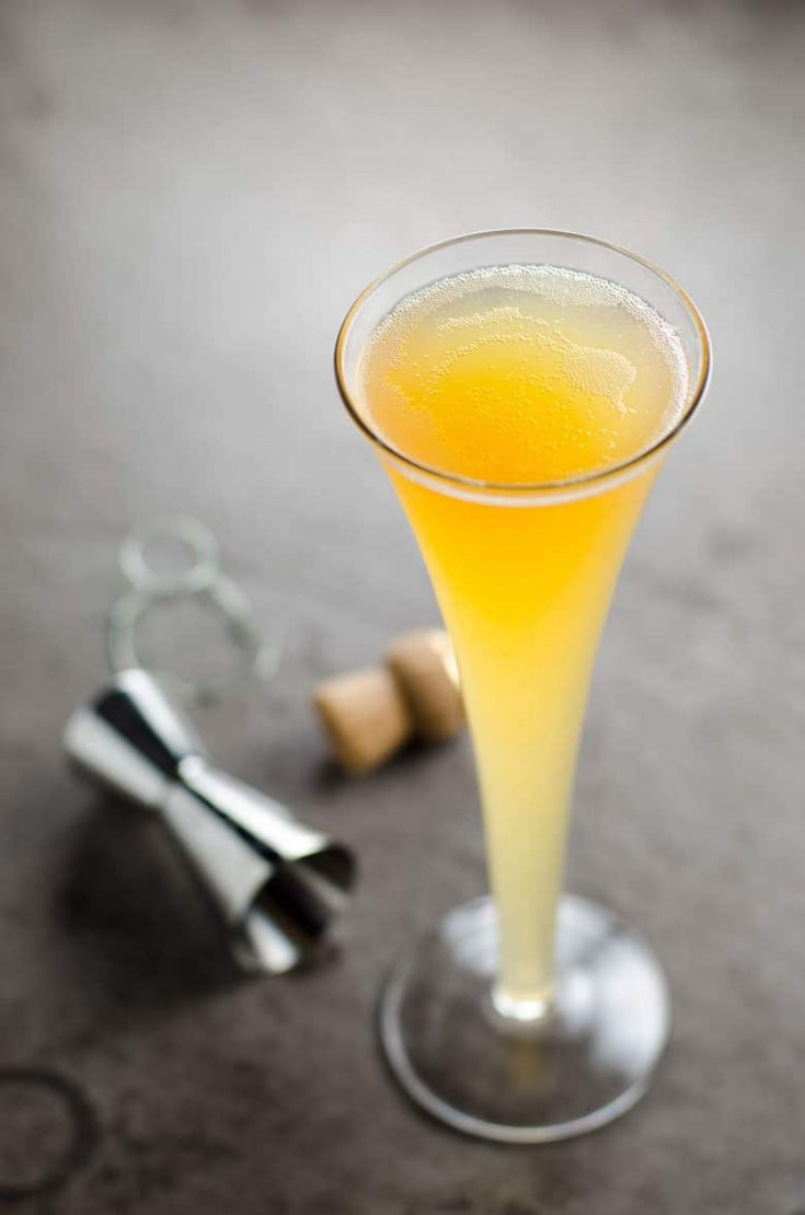 The Fifteen: A Cider, Champagne and Whiskey Cocktail