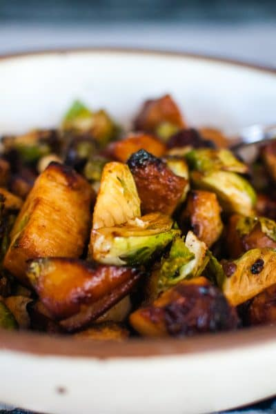 Air Fryer Teriyaki Chicken and Brussels Sprouts