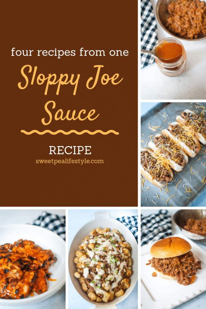 four sloppy joe recipes using homemade sloppy joe sauce