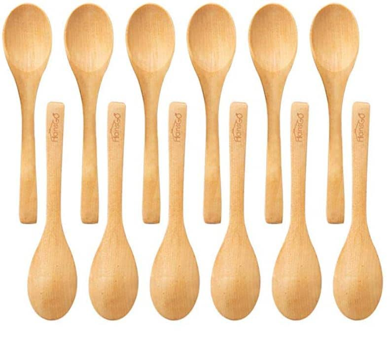 small wooden spoons for a cheese board