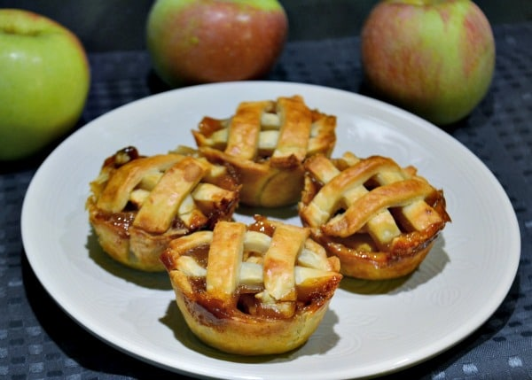 Mini Salted Caramel Apple Pies